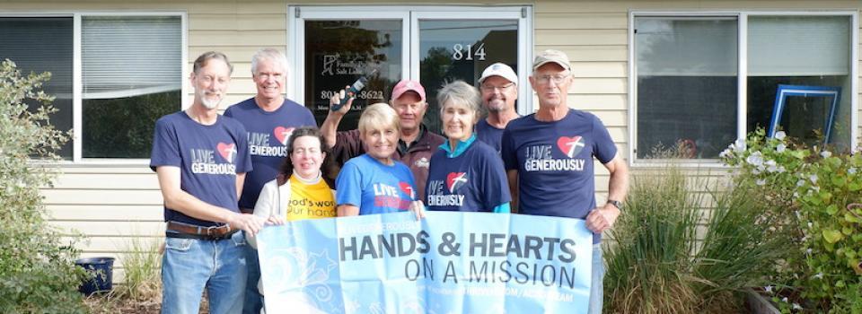 Shelving Assembly team for Family Promise