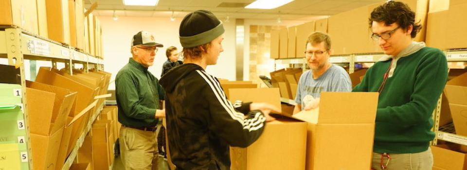 Sorting food for Utah Food Bank